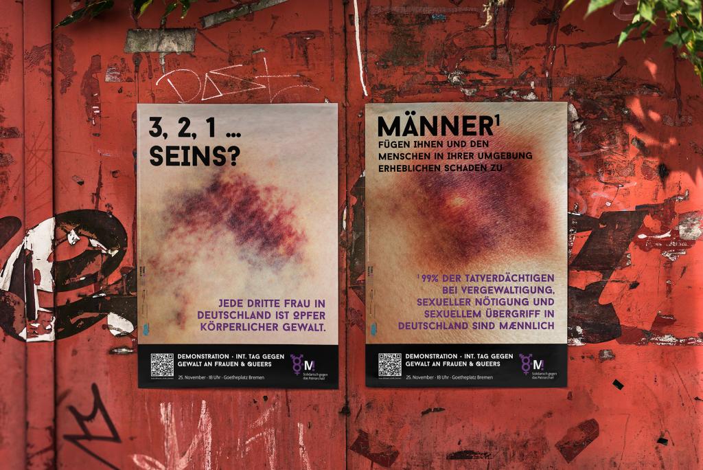 Demoplakate. 25.11_Demo Internationaler Tag gegen Gewalt an Frauen und Queers. Bremen